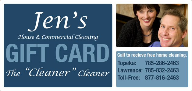 Jens Cleaning Company Gift Card Topeka amp Lawrence